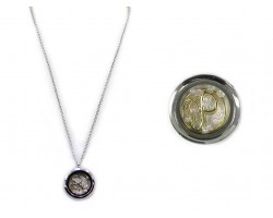 Two Tone Floating Monogram Locket Necklace
