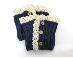 Montana Blue Knit Lace Buttons Boot Toppers