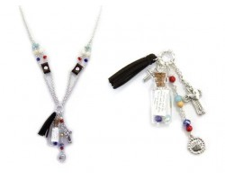 Lord's Prayer Message in Bottle Necklace