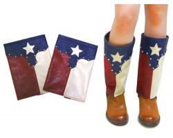 Texas Flag Suede Boot Cover