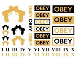 Black Gold Obey Guns Temp Jewelry Tattoos