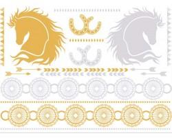Silver Gold Western Temp Jewelry Tattoos