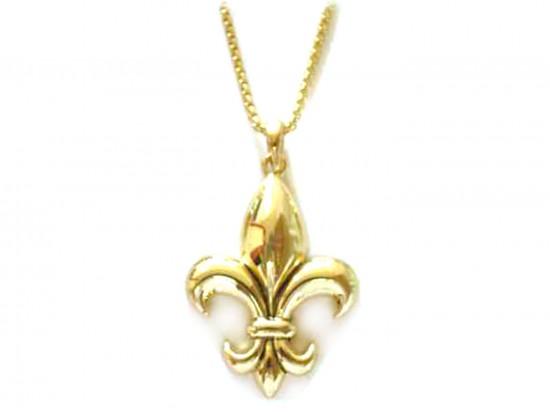 Gold Fleur De Lis Necklace