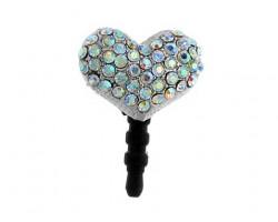 Heart AB Crystal Phone Plug