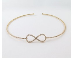 Gold Plate Crystal encrusted Choker with Infinity Design