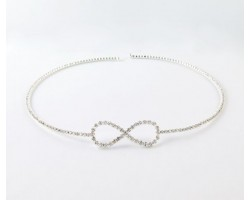 Silver Plate Crystal encrusted Choker with Infinity Design