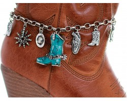Turquoise Cowboy Boot Western Boot Jewelry