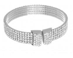 Silver Crystals 5 Line Memory Bracelet