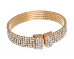 Gold Crystals 5 Line Memory Bracelet