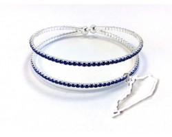 Silver Blue Crystal Kentucky Memory Bracelet