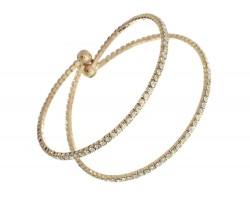 Gold 2 Line AB Crystal Memory Bracelet