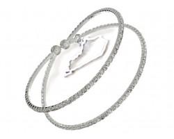 Silver Kentucky 2 Line Clear Crystal Memory Bracelet