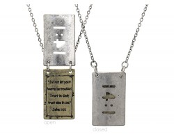 Silver Gold John 14:1 Pendant Necklace