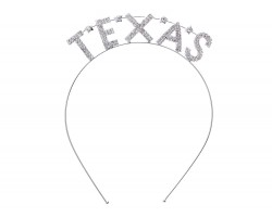 Silver Clear Crystal Texas Stars Headband