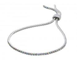 Silver AB Crystal Slide Rope Chain Bracelet