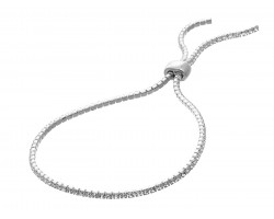 Silver Crystal Slide Rope Chain Bracelet