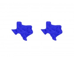 Blue Texas State Map Hammered Post Earring