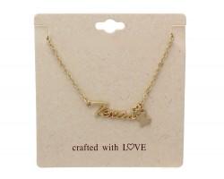 Gold Matte Texas Chain Necklace