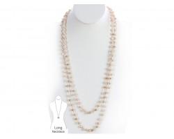 Golden Shadow Rondel Crystal Necklace
