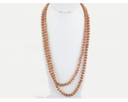 Brown Rondell Long Crystal Necklace
