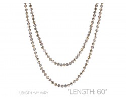 Copper Rondell Long Crystal Necklace