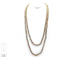 LCT Translucent Rondell Long Crystal Necklace