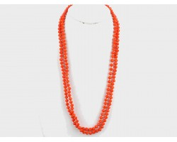 Orange Rondell Long Crystal Necklace