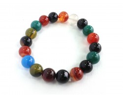 Assorted Natural 10mm Stone Beads Stretch Bracelet