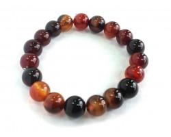 Carnelian Natural Stone 10mm Bead Stretch Bracelet