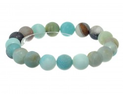 Green Natural 8mm Stone Bead Stretch Bracelet
