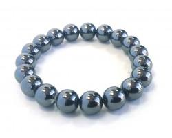 Lode Stone Hemetite Natural Stone 10mm Stretch Bracelet