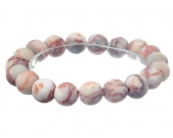 Light Brown Natural 8mm Stone Bead Stretch Bracelet