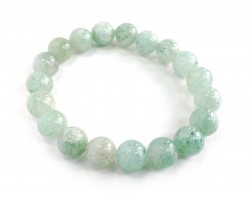 Light Green Natural 10mm Stone Bead Stretch Bracelet