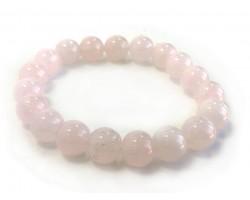 Rose Quartz Natural 10mm Stone Bead Stretch Bracelet