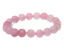 Pink Natural 8mm Stone Bead Stretch Bracelet