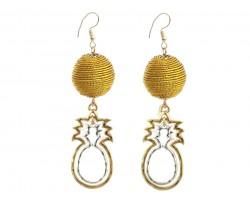 Warp Bead Pineapple Hook Earrings
