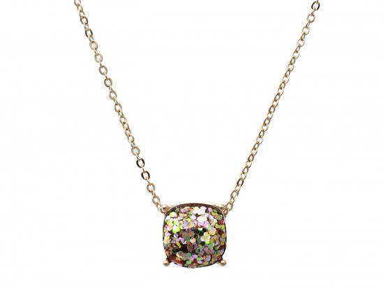 Viteral Glitter Gold Square Necklace