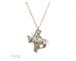 Gold Texas Home State Map Necklace
