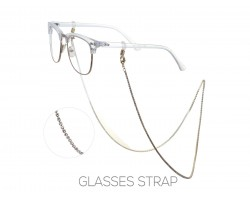 Gold Clear Crystal Eye Glasses Strap