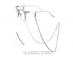 Rose Gold Clear Crystal Eye Glasses Strap