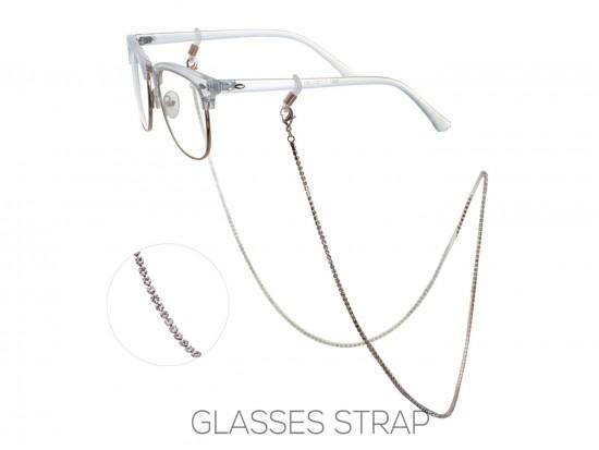 Rose Gold Clear Crystal Eye Glasses Strap