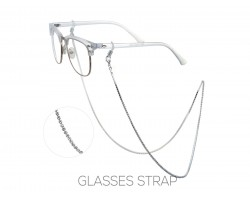 Silver Clear Crystal Eye Glasses Strap