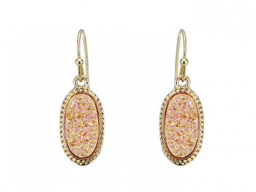 mystic metallic jewelry bazaar earrings scott kendra drop in lori lyst pink gold iridescent normal rose product peach