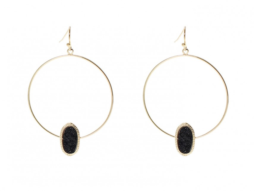 oval in yellow p hoop earrings gold shiny
