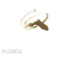 Gold Florida State Map Wire Ring
