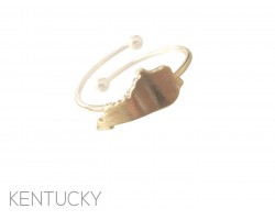 Gold Kentucky State Map Wire Ring