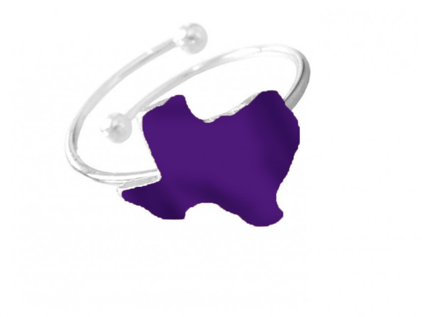 Purple State Map.Purple Texas State Map Silver Wire Ring Rm30470ps Tx