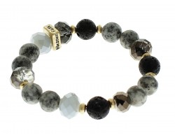 Black Love Faith Blessed Hope Natural Stone Stretch Bracelet