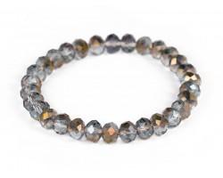 Copper Crystal Rondell Stretch Bracelet