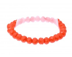 Orange Crystal Rondell Stretch Bracelet